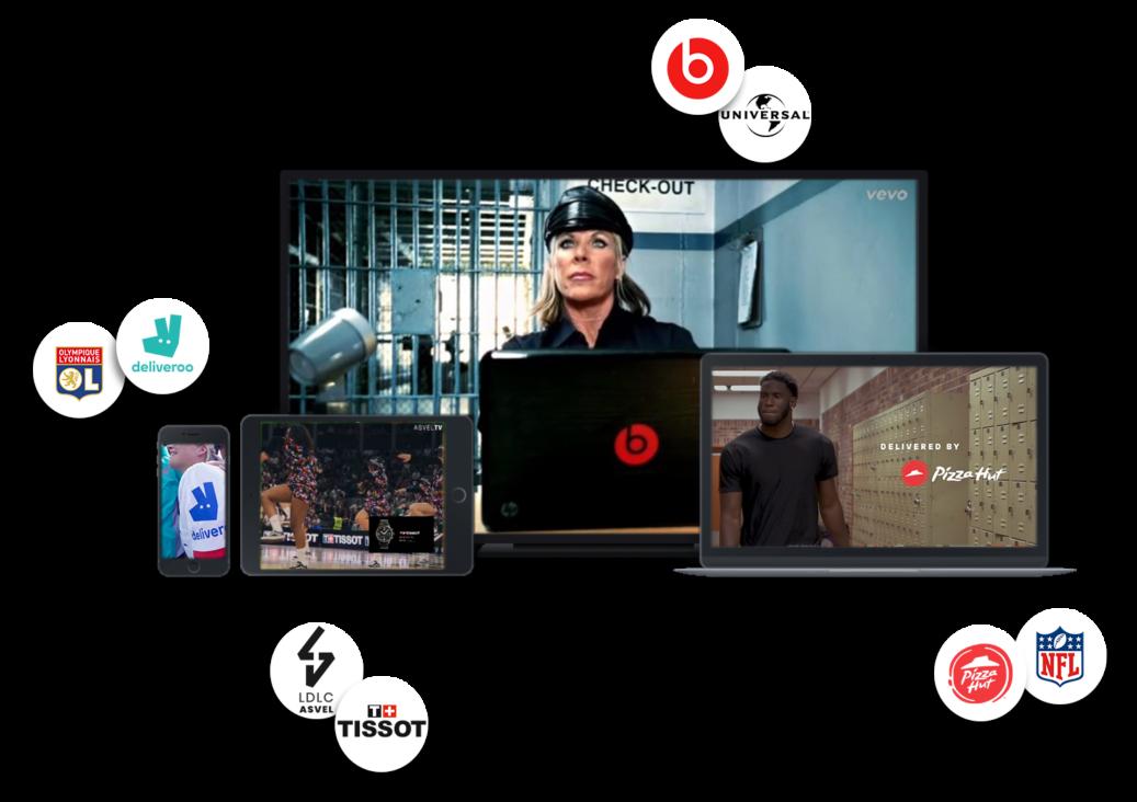 Sponsoring et placement de produit et logo sur contenu vidéo sport et divertissement