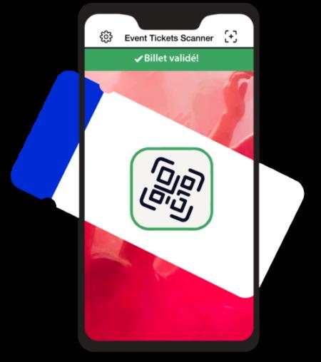 Application Event ticket Scanner pour contrôler l'accès des participants à l'entrée des événements